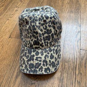 Anthropologie leopard print hat